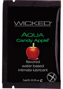 Wicked Aqua Water Based Flavored Lubricant Candy Apple...