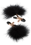 Entice Accessories Feather Nipplettes Nipple Clamps Black