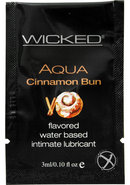 Wicked Aqua Water Based Flavored Lubricant Cinnamon Bun...