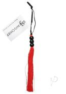Sex And Mischief Small Rubber Whip 10in - Red