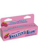Sweeten D Blow Oral Pleasure Gel Raspberry 1.5 Ounce
